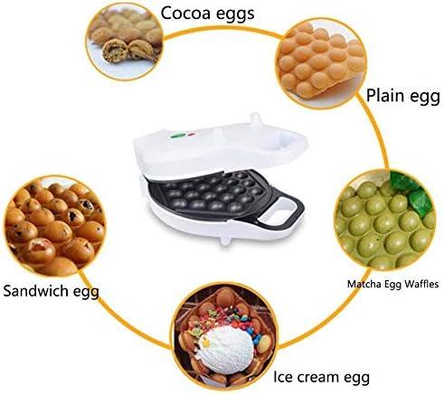 Gaufrier Petit-déjeuner Bubble machine Gaufrier avec indicateur - blanc - Contrôle de la température intelligente Bubble Egg Waffle En 5 minutes, 640W gaufrier professionnel