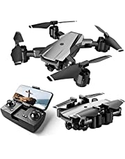 $139 » HR H3 Drone with Camera for Adults and Kids,1080p HD FPV Live Video Camera,RC Quadcopter Foldable Drones for Beginners with Optical Flow Positioning,Headless Mode,2 Batteries and Carrying Case