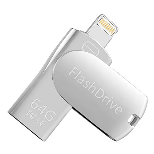 iPhone Flash Drive 64GB USB Pen Thumb Drive, AFILADO IOS Lightning Memory Stick External Storage Expansion for Apple iPhone/iPad/iPod/Android & Computers ()
