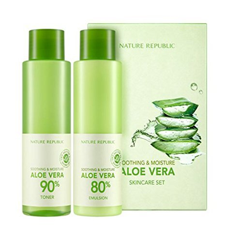- Nature Republic Soothing&Moisture Aloe Vera Skin Care Set