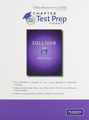Download Videos on DVD with Chapter Test Prep for