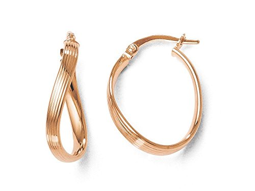 Finejewelers 14k Rose Gold Polished Hoop Earrings