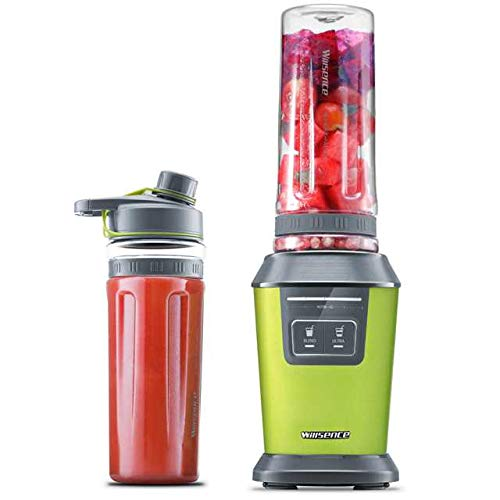 llsence Intelligent Nutrition Personal Blender 700W Peak Power, Ice Crush Smoothie Maker with Two 20 oz Tritan Sports Bottles and Recipes, Staniless Steel (Smoothie) ()
