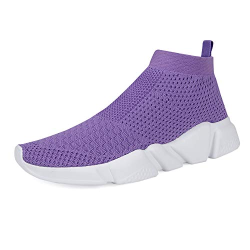 (Women's Running Lightweight Breathable Casual Sports Shoes Fashion Sneakers Walking Shoes (42 M EU /12 D(M) US, Purple))