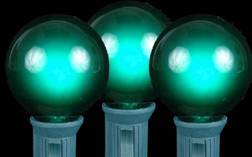 Novelty Lights, Inc. G40-E12-5W-S-GR Globe Outdoor Patio Party Christmas Replacement Bulbs, Green, by Novelty ()