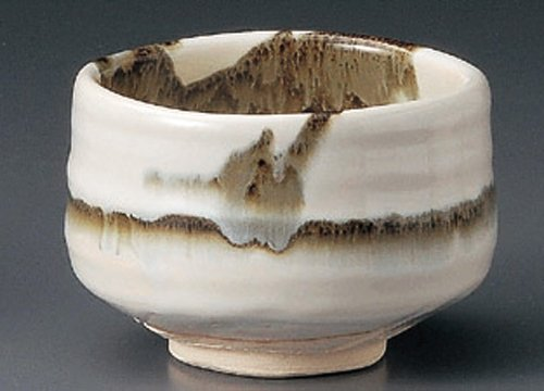 USUSUMI-NAGASHI 4.6inches MATCHA BOWL TOHKI Japanese Pottery by Watou.asia
