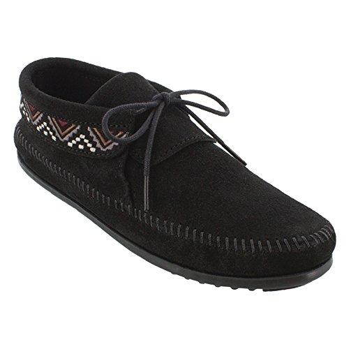 Women's Ankle Black Boot Mosaic Minnetonka OFaSHn