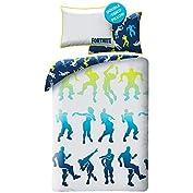 Ropa de cama de Fortnite. Producto con licencia oficial. Funda nórdica reversible, 140 x 200 cm, incluye: Funda de almohada: 70 x 90 cm.