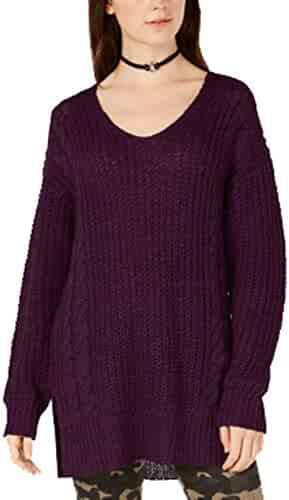 Hajotrawa Girl Letter Knitted Dress Pullover Mock Turtle Neck Sweaters