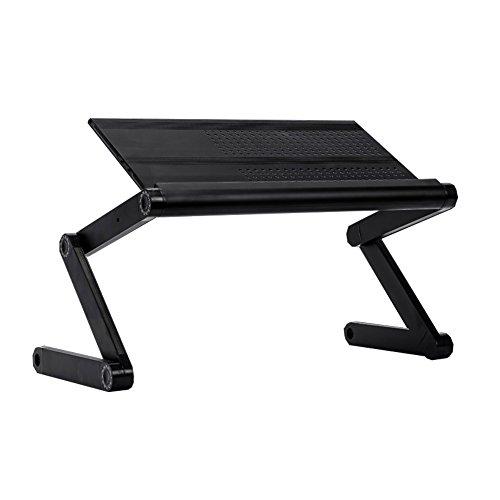 DDLBiz Portable Laptop Table Adjustable Multifunctional Mount Stand Reading Holder (Black) by DDLBiz