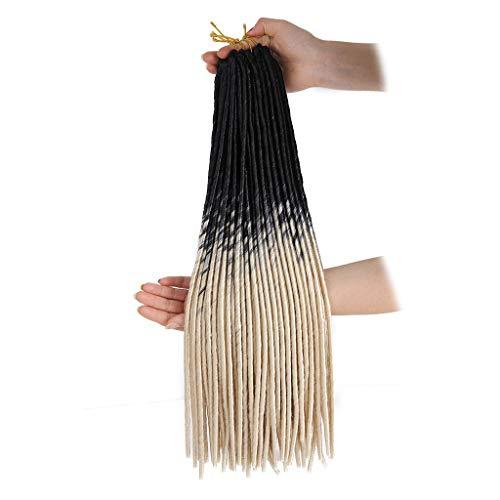 Braid Wigs,Women's Wig,Vintage Wig,Fashion Pretty Wig Female Black Gradient Color dice African Small Braid]()