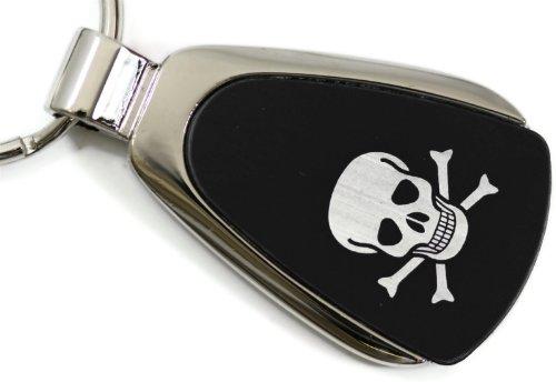 Skull Black Teardrop Key Fob Authentic Logo Key Chain Key Ring Keychain Lanyard DanteGTS 5559032054