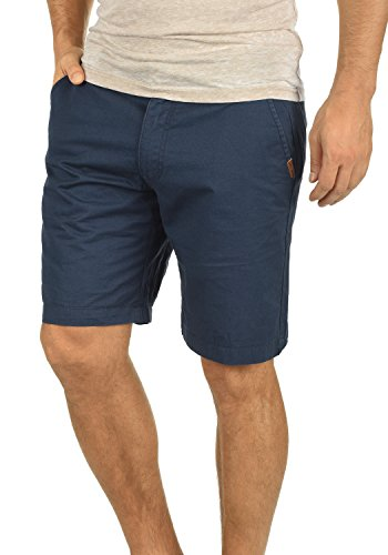Court Short Chino Coton Blue solid Regular Insignia Homme 100 Coupe Thement 1991 Pour Bermuda Pantalon XpawR4x