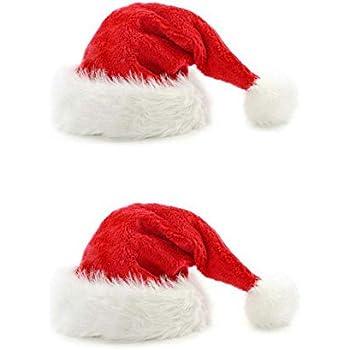 3db4b821f Amazon.com: B-Land Unisex-Adult's Santa Hat, Velvet Christmas Hat ...