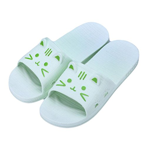 Sonnena Women Thick Bottom Flat Slipper Casual Street Style Non-Slip Soft Flip Flop Sandal Sports Indoor and Outdoor Sliders Bath Beach Pool Shoes Can Match Socks Sky Blue( women ) RsqBws7Chk