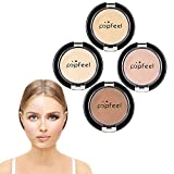 Full Coverage Concealer, 4 Colors Dark Circles Treatment Creamy Spot Acne Correcting Concealer for Foundation Makeup Cover Bruises Tattoos(4 color/set)