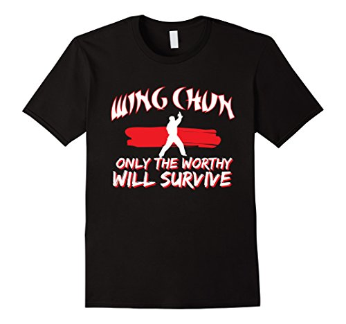 Mens Wing Chun Tshirt Only The Worthy Will Survive XL Black