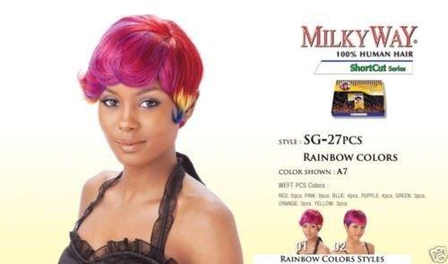 Amazon Com Milky Way Human Hair Weave Short Cut Series Sg 27pcs 1