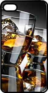 Two Whiskey Shot Glasses Tinted pc Case for Apple iPhone 5 or iPhone 5s