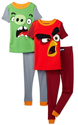 Angry Birds Boys' Big 4pc Cotton Sleepwear Set, Multi, 10 for $<!--$19.99-->