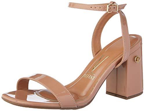 Sandálias Premium, Vizzano, Feminino, Verniz Nude, 38