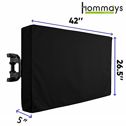 Outdoor TV Covers 40″-42″ Waterproof Universal Protector LCD LED Plasma Television Cover Fits Most Mounts And Stands with Built-in Pocket For Remote Controller
