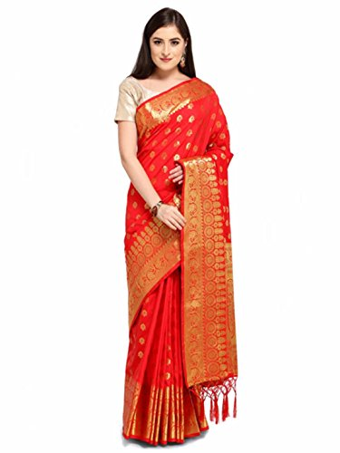 Colors Design Woven Cotton Red Silk Saree 1r1qx0nP