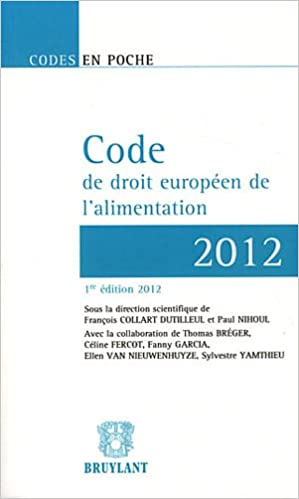 En ligne téléchargement Code de droit européen de l'alimentation 2012 epub, pdf