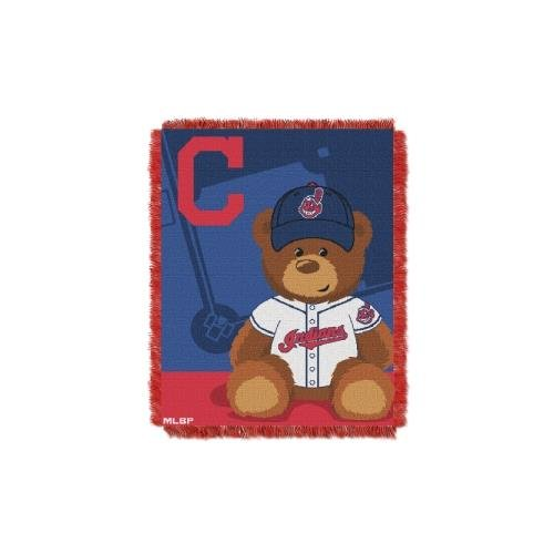 Cleveland Indians Uniforms (MLB Cleveland Indians Field Bear Woven Jacquard Baby Throw, 36