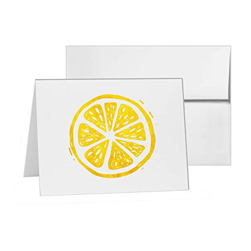 Segment Pack (Orange Slice Of Fruit Segment, Blank Card Invitation Pack, 15 cards at 4x6, Blank with White Envelopes Style 14582)