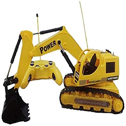 Buy Radhe Remote Control Battery Operated Jcb Crane Truck Toy Online