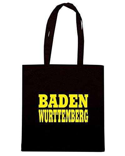T-Shirtshock - Bolsa para la compra WC0845 BADEN WURTTEMBERG GERMANY LAND CITY Negro