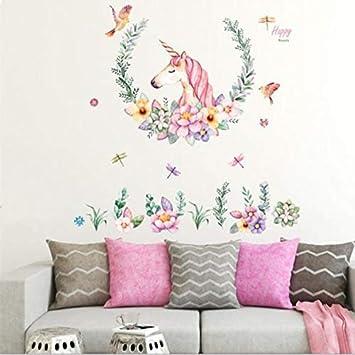 d7790556b9 Unicorn Wall Decals Girls Bedroom Wall Stickers Nursery Room Wall Stickers -FER002660