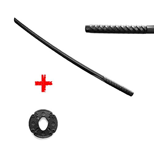 Bokken Schwert schwarz 100 cm aus stabilem PP Kunststoff