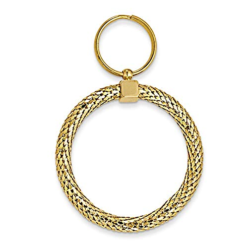 Tone Mesh Chain - Large Round Gold/Silver-tone Mesh Keychain
