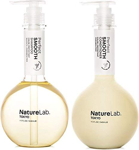 NatureLab Perfect Smooth Hair Shampoo and Conditioner Set – Nourishing + Moisturizing Shampoo for Dry + Frizzy Hair…