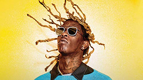 bribase shop Young Thug Rapper Singer Songwriter Poster 24 inch x 13 inch
