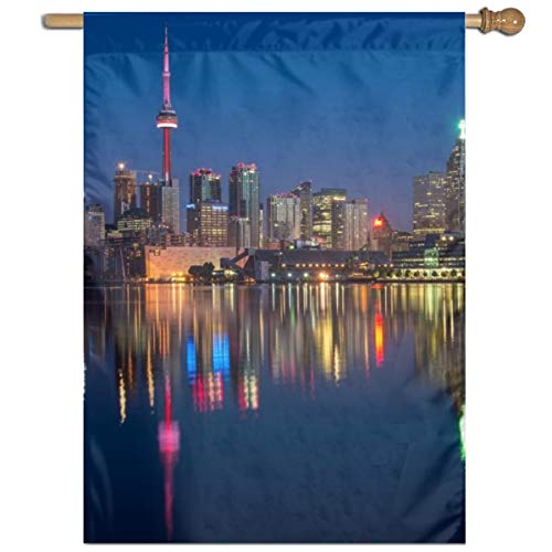 Garden Flag Toronto of Night Lawn Banner Outdoor Yard Home Flag Wall Decoration Flag 27