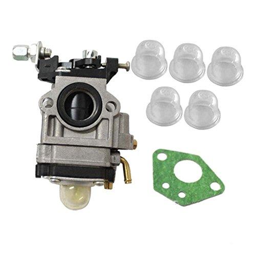 HURI Carburetor with Primer Blub Gasket for 2 Cycle 43cc Powermate PCV43 (Carburetor Primer)