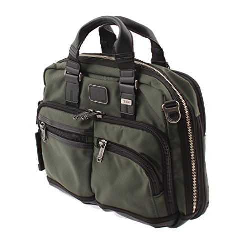 Leather Zipped Entry (Tumi Andersen Slim Commuter Brief (Spruce) - 0222640SP2)