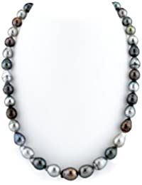 "14K Gold 8-10mm Tahitian Multicolor South Sea Baroque Cultured Pearl Necklace - AAA Quality, 17"" Length"