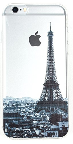 IPhone 5 / 5s Case, YogaCase InTrends Silicone Back Protective Cover (Cityscape Paris)
