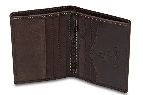 Leather Distressed Bi Fold (Visconti Hunter 705 Distressed Leather Slim Bifold Card Holder Wallet (Oil Brown))