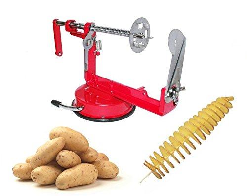 Compra Cortador de patatas en forma de espiral de acero inoxidable pelador manual mws1075 en Amazon.es