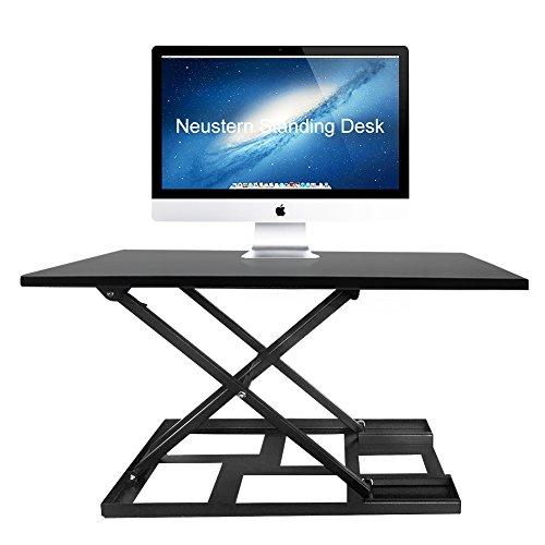 Standing Desk Converter Adjustable Height Neustern Easy Up and Down Multifunction Desk - Sit to Stand Workstation ( Large Size 32'' X 22'' X 16.9'' ) Fully Assembled by Neustern