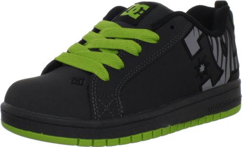 - DC Kids Court Graffik SE Skate Sneaker (Little Kid/Big Kid),Black/Black/Soft Lime,13 M US Little Kid