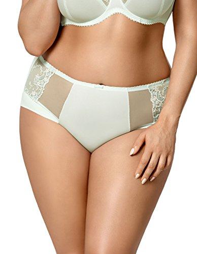 Gorsenia K429 Women's Laguna Mint Green Embroidered Panty Full Brief LGE ()