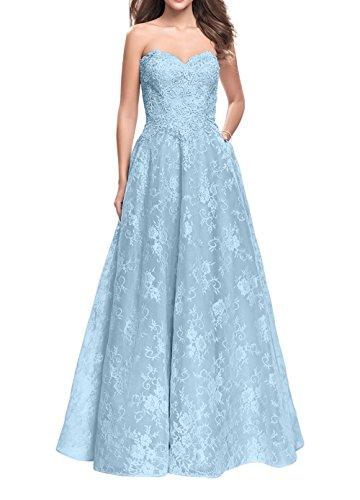 Festlichkleider Ballkleider Himmel Prinzess La Abendkleider Blau mia 2018 Brau Spitze Abschlussballkleider Neu Promkleider Prinzess xnxqHpgwv6