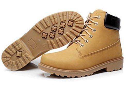 Bininbox Mens Décontracté Haut-top Bottes De Travail Neige Randonnée Sneakers Respirant Sportif Chaussures De Sport Vintage Jaune