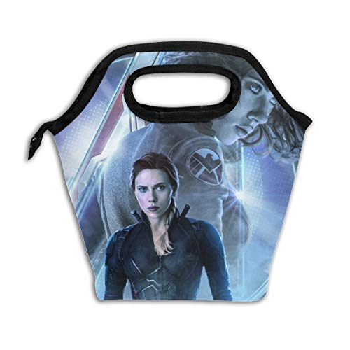 Reusable Lunch Tote Washable Insulated Lunch Bag Avengers Endgame Black Widow Lunch Holder Lunch Container For Men Children Kid Women Adults Nurses]()
